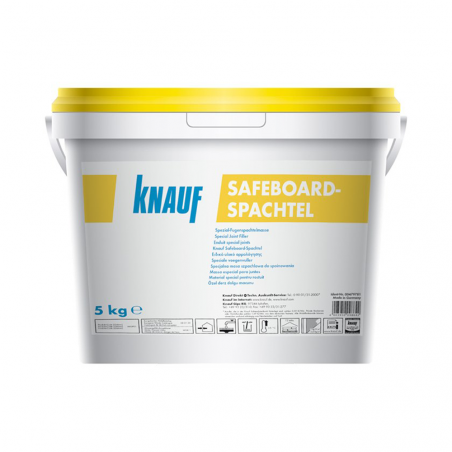 KNAUF • SAFEBOARD SPACHTEL Stucco in polvere a base di gesso plasticamente modificato da...