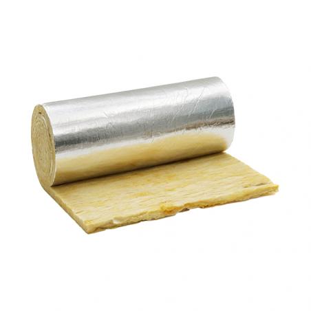 ISOVER • CLIMCOVER ROLL ALU B G3 Feltro in lana di vetro G3, rivestito su una faccia con carta...
