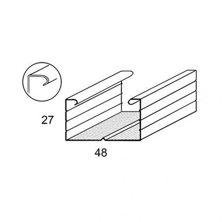 CIPRIANI Profilo C 50 x 27 bordo arrotondato per soffitti e contropareti