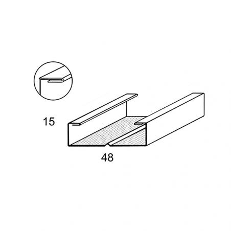 CIPRIANI Profilo C 50 x 15 bordo arrotondato per soffitti e contropareti
