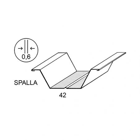 CIPRIANI Profilo omega spessore 0,60 mm per pareti e contropareti